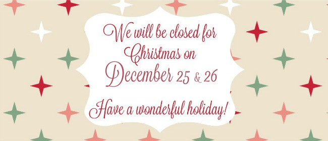 Christmas Closing Dates